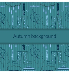 Autumn background pattern vector image