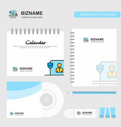 avatar logo calendar template cd cover diary and vector image
