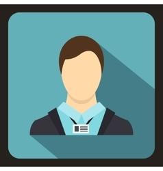 Avatar man icon flat style vector