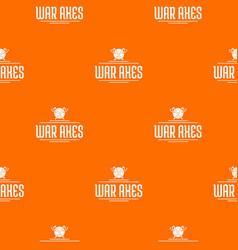axe pattern orange vector image