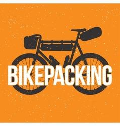 Bikepacking vector image