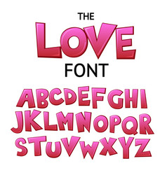 bright cartoon pink comic graffiti font vector image