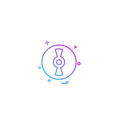 cd disc icon design vector image