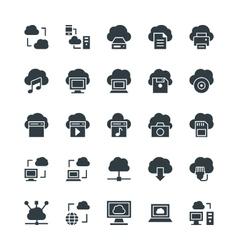 Cloud computing cool icons 1 vector