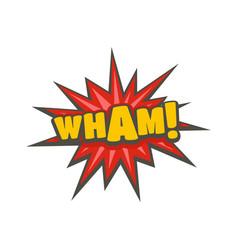 Comic boom wham icon flat style vector