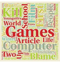 Computer Games in the Child s Life text background vector image