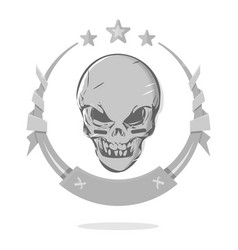 Cool evil skull template awards or the gothic vector