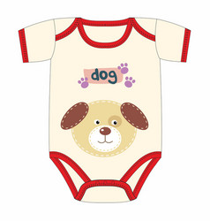 cute clothes for newborn with dog vector image