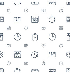 Deadline icons pattern seamless white background vector
