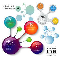 design set of infographics vector image