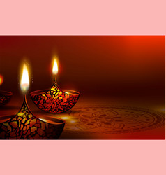 diwali festival poster diwali holiday shiny vector image