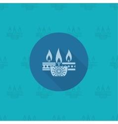Diwali Indian Festival Icon vector