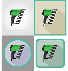 electric repair tools flat icons 10 vector image