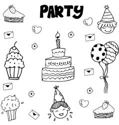 Element party doodle vector