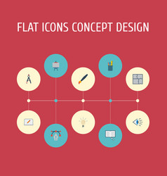 flat icons scheme science concept and other vector image