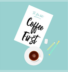 flat of coffee vector image