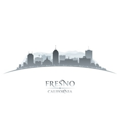 Fresno California city skyline silhouette vector image