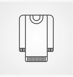 garment icon sign symbol vector image