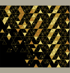 gold and black pattern broken abstract grid vector image