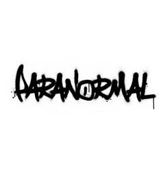 Graffiti paranormal word sprayed in black over vector