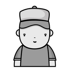 Grayscale man plumber job to service repair vector