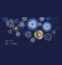 happy new year color banner template vector image