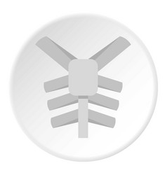 Human thorax icon circle vector