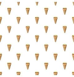 Ice cream in a waffle cone pattern cartoon style vector