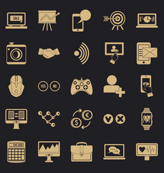 intellect icons set simple style vector image