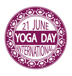 international day of yoga concept vector image