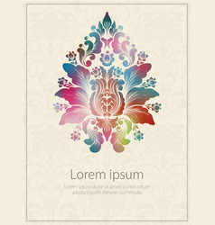 Invitation card with watercolor vector