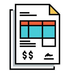 Invoice flatoutline vector