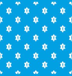 keyhole pattern seamless blue vector image
