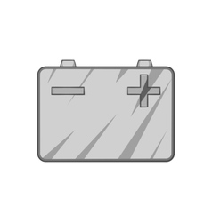 Machine battery icon black monochrome style vector image
