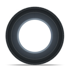 Modern vehicle tire icon vector
