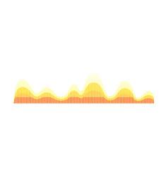 Music wave pattern yellow-orange sound pulse vector