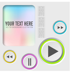 Music web elements collection vector
