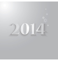 new year 2014 design vector image