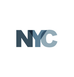new york city phrase overlap color no vector image
