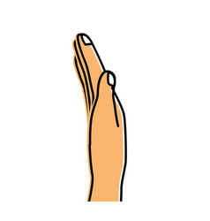 Nice hand with all fingers and nails vector