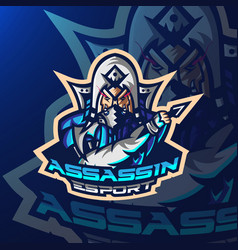 Ninja sport esport gaming mascot logo template vector