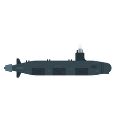 nuclear submarine flat icon isolated vector image