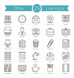 office line icons vector image