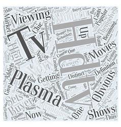 Plasma hdtv Word Cloud Concept vector