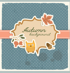 Polkadot autumn seamless background vector