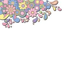 Retro psychedelic banner vector