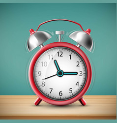 ringing alarm clock on vintage background vector image