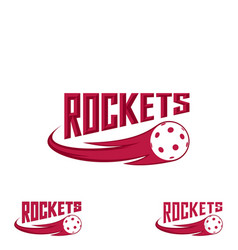 rocket floorball logo for team and cup vector image
