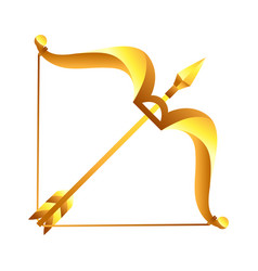 Sagittarius sign golden horoscope symbol vector