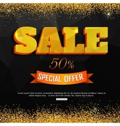 Sale background with gold dust Super Sale vector image